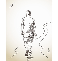 walking man from back vector image