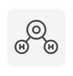 Water molecule icon vector