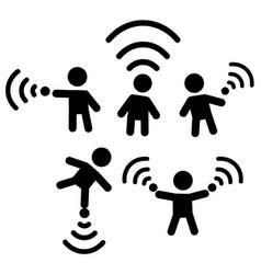 Wi-fi figures symbol set vector