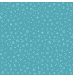 Blue Seamless Medical Pattern vector image