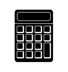 calculator math school pictogram vector image