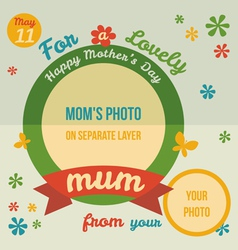 For a lovely Mum greeting card flat design vector image vector image