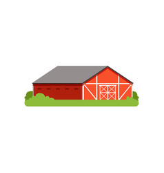 red barn agricultural building countryside life vector image vector image