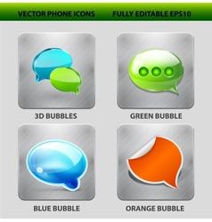 Speech bubble icon set vector image vector image