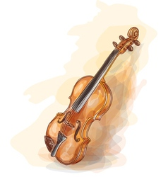 violin vatercolor style vector image vector image