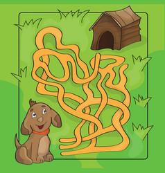 Cartoon of education maze or vector