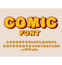 Comic font bang alphabet bright cartoon abc yellow vector