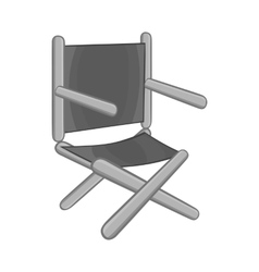 Directors chair icon black monochrome style vector image