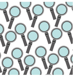 magnifying glass pattern background vector image