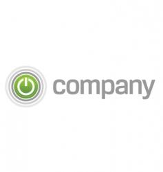 power start button logo vector image