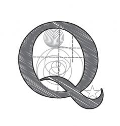 q vector image vector image