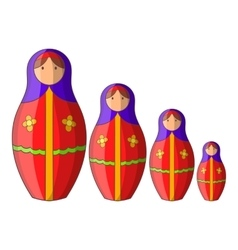 Russian tradition doll icon cartoon style vector image