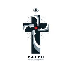 true belief and religion brings people together vector image vector image