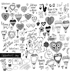 A big set of handdrawn style design elements for vector image vector image
