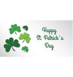 happy saint patrick day congratulation card with vector image