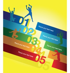 number jumpers vector image vector image