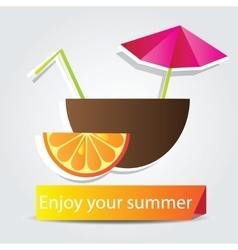 Orange Fruit cocktail vector image vector image