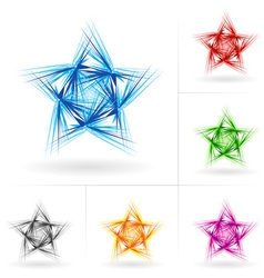 set of different stars icons vector image vector image