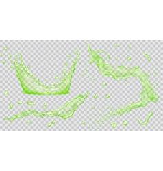 Transparent water splash vector