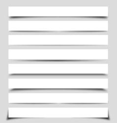 box shadows vector image vector image