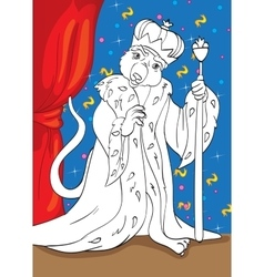 Coloring Book Of Mouse King From Tale Nutcracker vector image vector image