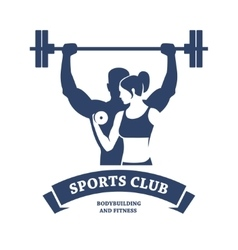 Fitness and Bodybuilding Club vector image vector image
