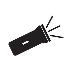 flashlight icon on white background flat style vector image