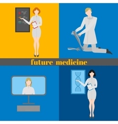 Future doctors and nurses and medical staff vector image vector image