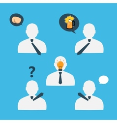 People icons while brainstorming eps vector image vector image