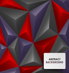 Abstract colored pyramid background vector image