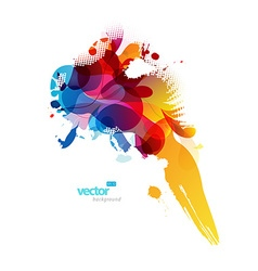 Abstract colorful splash vector image