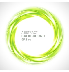 Abstract green swirl circle bright background vector