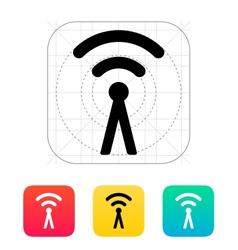 Antenna broadcasting radio signal icon vector image