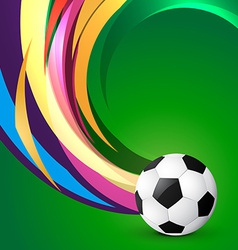 Artistic football design vector