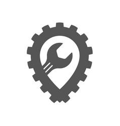 Auto repair garage service icon vector