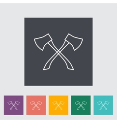 Axe icon vector