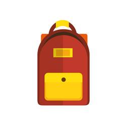 Bag school character kawaii vector