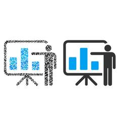 Bar chart presentation composition of dollars vector