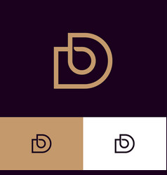 bd monogram logo web ui icon vector image