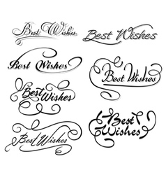 Best wishes calligraphic elements vector