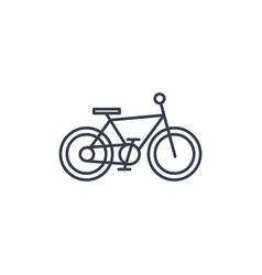 Bicycle bike thin line icon linear symbol vector
