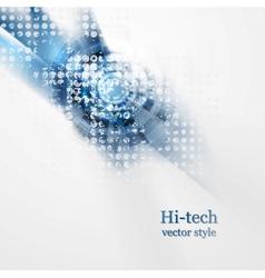 Blue grunge hi-tech background vector image