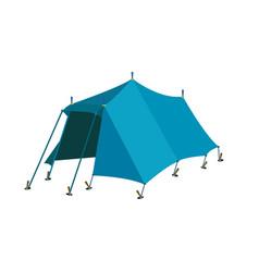 Blue tent vector