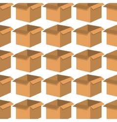 Box carton pattern background vector