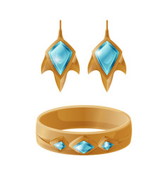 Bracelet and earrings set vector