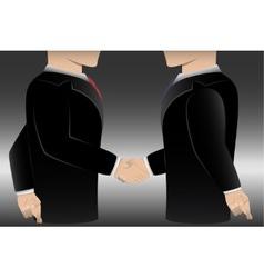 Business man cheating cross finger vector