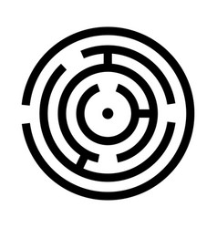Circle maze or labyrinth vector