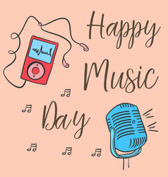 collection stock music day celebration card vector image