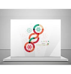 Colorful Christmas swirl abstraction with lights vector