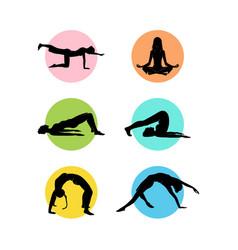 Colorful yoga logo template vector